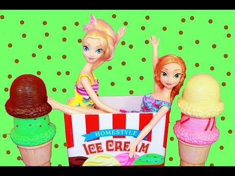 Disney Elsa Frozen Ice Cream Melissa & Doug Wooden Learning Educational Toys Like Cupcake Set Video