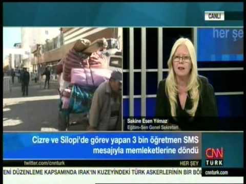 Sakine Esen Yılmaz, CNN Türk'te