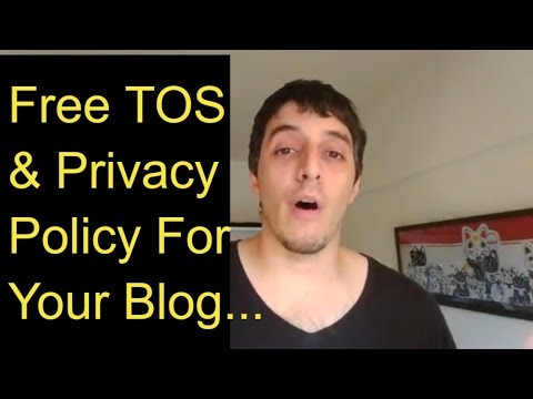 , title : 'Best Way To Get a Terms Of Use And Privacy Policy For Your Blog'