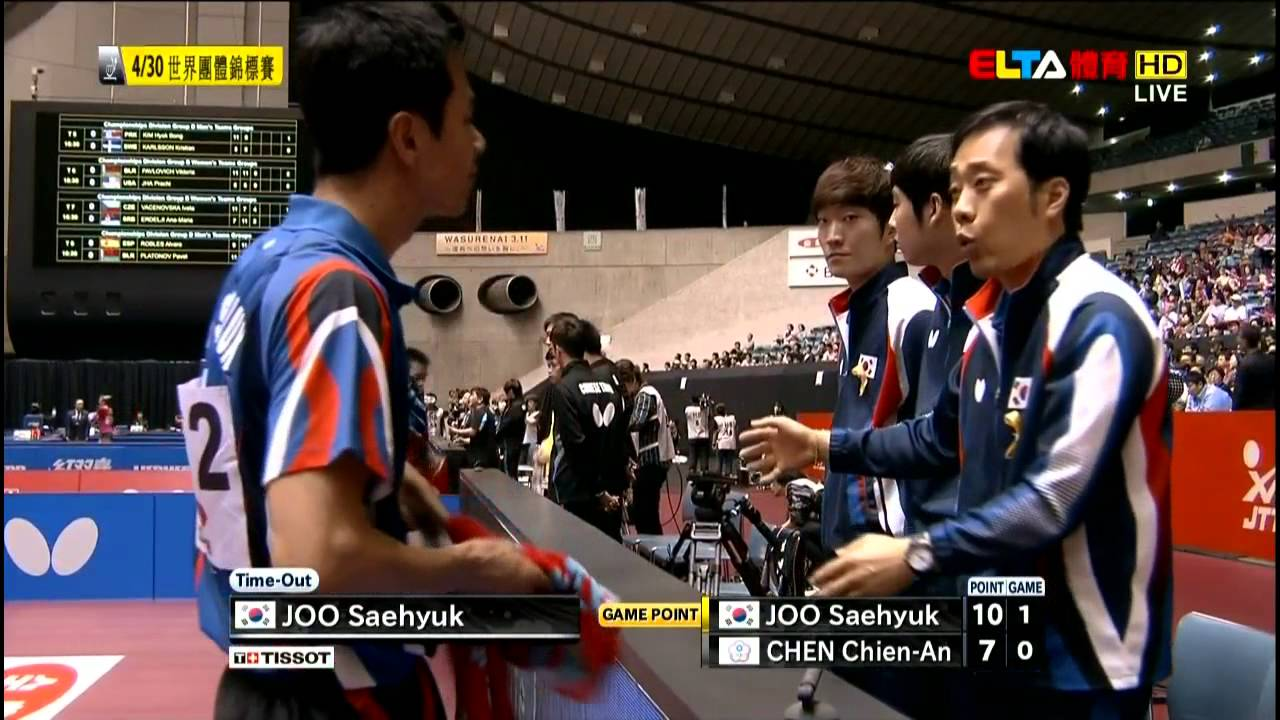 2014 WTTTC (Rnd4/KOR-TPE/m1) JOO Se-Hyuk Vs CHEN Chien-An [HD] [Full Match/Chinese]