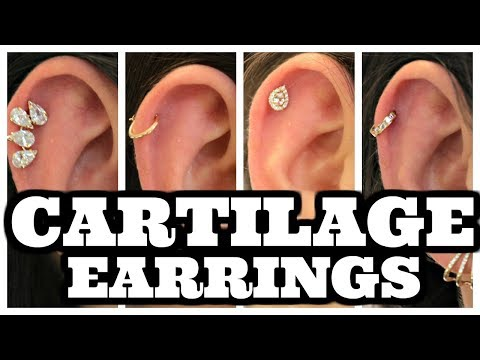Cartilage Earrings - Different Styles of Hoops & Studs for Cartilage