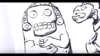 Video from the show at LACMA earlier in the year. They didn't allow photography of the ancient artifacts so I drew 'em instead!