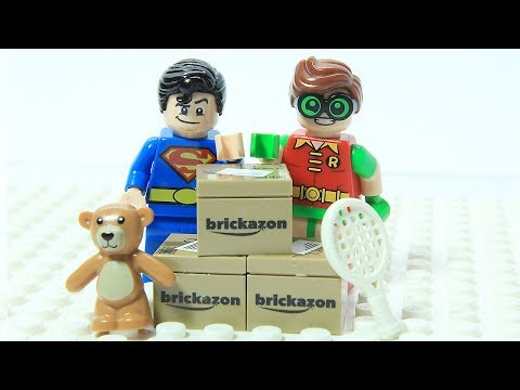 Lego Superman and Robin Brick Box Shuffle Game Play Superhero Fun Animation Cartoon