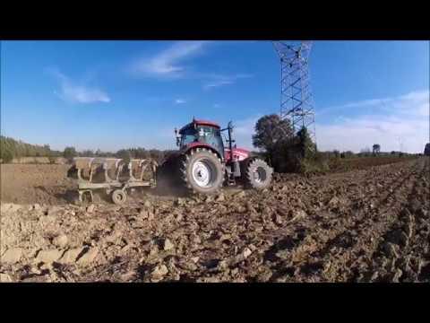 Aratura 2016 con CaseIH Puma 230CVX & trivomere Bordin видео