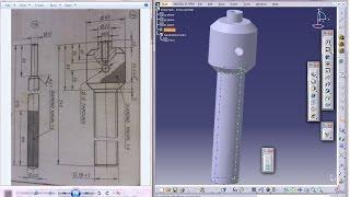 Catia V5 Tutorial|P3.2-Create Screw Jack|Screw Spindle|Mechanical Engineering Design