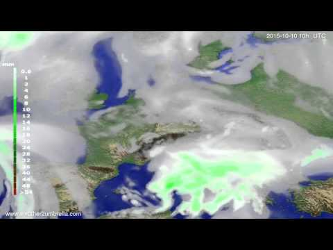 Precipitation forecast Europe 2015-10-08