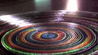 World Record: Most dominoes toppled in a spiral (30,000) complete Toppling