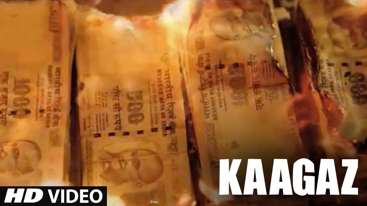 KAAGAZ  Demonetization & Black Money by Sonu Nigam