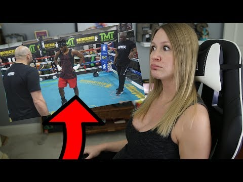 KSI TRAINS WITH FLOYD MAYWEATHER!! | My Reaction (видео)