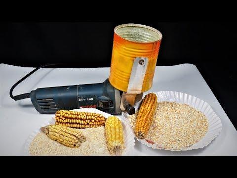 Angle Grinder Hack. How to Make a corn Grinder/mixture at Home  DIY