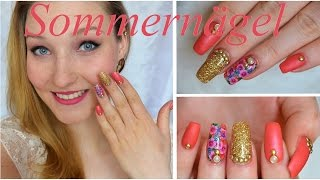 How To: Gelnägel im Matt&Shine Look | Sommer-Inspiration | TheRealNana - YouTube