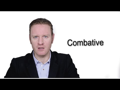 Combative - Meaning | Pronunciation || Word Wor(l)d - Audio Video Dictionary