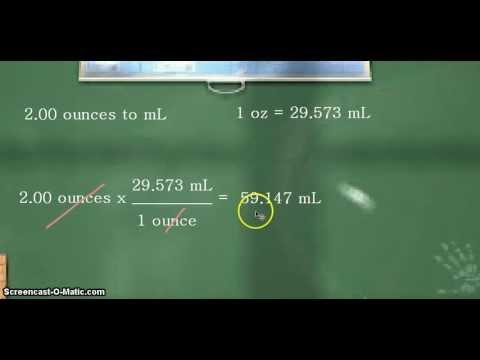 Unit Conversion: fluid ounces to milliliters