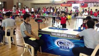 Asean Sports Stacking Held In Thailand 12-13 Oct 2013