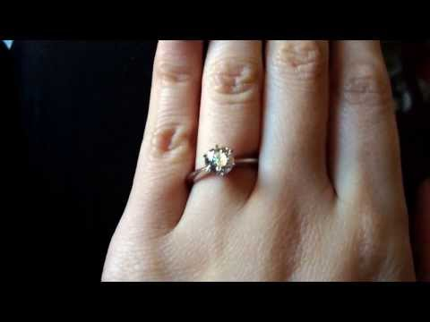 My beautiful Brilliant Cut 1ct Engagement Ring