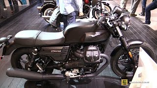 10. 2018 Moto Guzzi V7 III Stone - Walkaround - 2017 EICMA Milan Motorcycle Exhibition