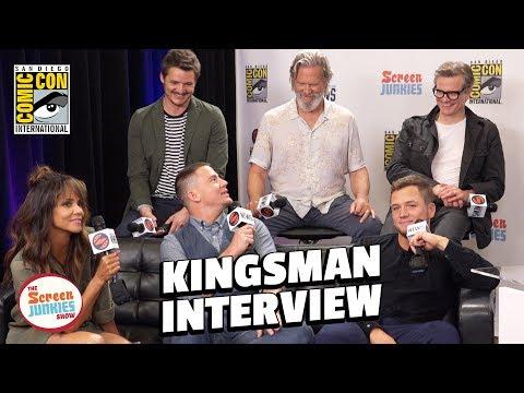 Kingsman 2 Cast Spills Secrets - LIVE in Studio (SDCC 2017)