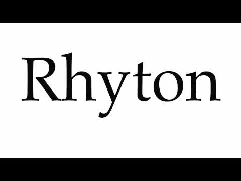 How to Pronounce Rhyton