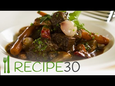 BOEUF (beef) BOURGUIGNON - By RECIPE30.com