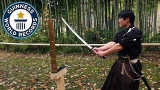 Video Martial arts master attempts katana world record - Japan Tour MP3, 3GP, MP4, WEBM, AVI, FLV September 2018