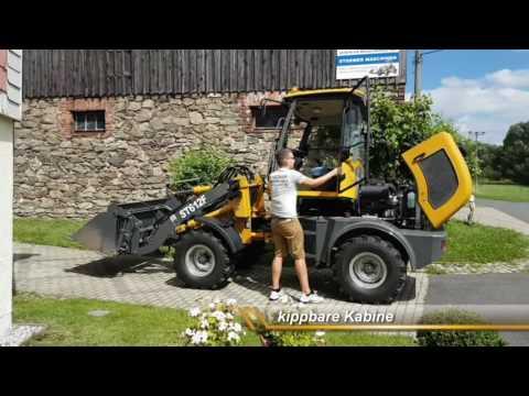 Radlader, Hoflader, Frontlader ST612F / ZL 12 F st-maschinen.de (видео)