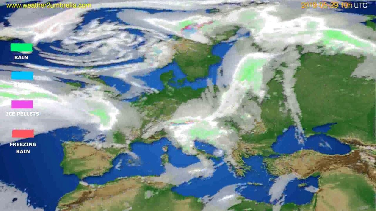Precipitation forecast Europe // modelrun: 00h UTC 2019-05-27