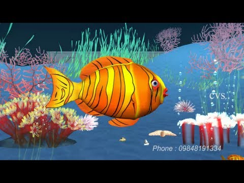 Poems - Machli jal ki rani hai jeevan uska pani hai Fish Poem 3D Animation Hindi Nursery rhymes Poem song for children with Lyrics