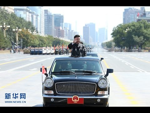 President Xi Jinping inspects Chinese troops