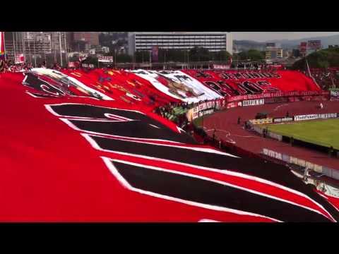 Salida (Tifo) del Caracas FC vs Dvo. Táchira (Domingo 12 de Mayo de 2013) - Los Demonios Rojos - Caracas