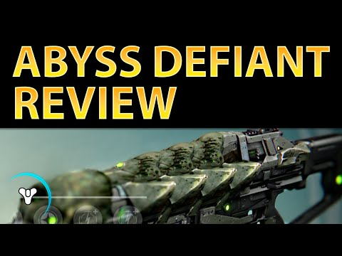 video review - Abyss Defiant REVIEW: http://planetdestiny.com/abyss-defiant-review/ - TeftyTeft: https://www.youtube.com/user/TeftyTeft Abyss Defiant has very balanced stats compared to its Legendary alternativ...