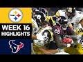 Steelers vs Texans   NFL Week 16 Game Highlights