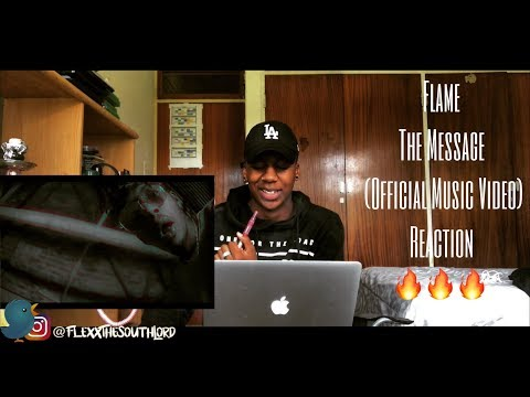 Flame - The Message (Official Music Video) | REACTION 🔥 | South African YouTuber