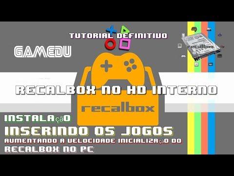 Tutorial Definitivo Recalbox  PC multi- jogos no HD Interno