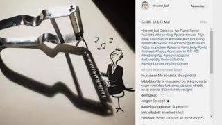 Artista belga transforma sombras em ilustrações