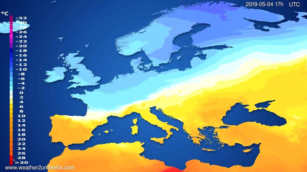 Temperature forecast Europe // modelrun: 12h UTC 2019-05-02