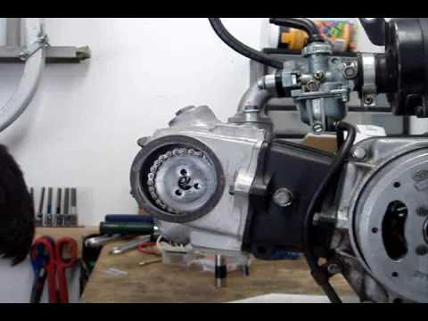cam timing - This is how to set the cam timing for Honda's 50/70cc OHC horizontal engines.