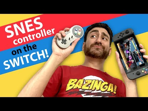 HOW TO use SNES CONTROLLERS on the SWITCH! - 8bitdo SNES30 / SFC30 Firmware Update
