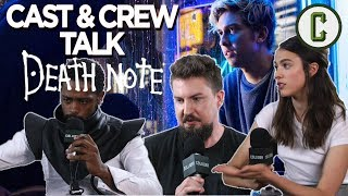 Adam Wingard's adaptation of Death Note is due to hit Netflix on August 25th and in anticipation of the release, Perri Nemiroff got the chance to sit down with the filmmakers. The story centers on Light Turner played by Nat Wolff, who winds up getting ahold of a notebook that gives him the ability to kill someone simply by writing their name on one of the pages. Fans of the manga and anime have been pretty vocal about changes made to the source material. Check out this interview to get director Adam Wingard, producers Masi Oka and Roy Lee, and stars Nat Wolff, Margaret Qualley and Keith Stanfield's thoughts on the matter.Follow us on Twitter: https://twitter.com/ColliderVideoFollow us on Instagram: https://instagram.com/ColliderVideoFollow us on Facebook: https://facebook.com/colliderdotcomAs the online source for movies, television, breaking news, incisive content, and imminent trends, COLLIDER is a more than essential destination: http://collider.comFollow Collider.com on Twitter: https://twitter.com/ColliderSubscribe to the SCHMOES KNOW channel: https://youtube.com/schmoesknowCollider Show Schedule:- MOVIE TALK: Weekdays  http://bit.ly/29BRtOO- HEROES: Weekdays  http://bit.ly/29F4Job- MOVIE TRIVIA SCHMOEDOWN: Tuesdays & Fridays  http://bit.ly/29C2iRV - TV TALK: Mondays  http://bit.ly/29BR7Yi - COMIC BOOK SHOPPING: Wednesdays  http://bit.ly/2spC8Nn- JEDI COUNCIL: Thursdays  http://bit.ly/29v5wVi - COLLIDER NEWS WITH KEN NAPZOK: Weekdays  http://bit.ly/2t9dNIE- BEST MOVIES ON NETFLIX RIGHT NOW: Fridays  http://bit.ly/2txP3gn- BEHIND THE SCENES & BLOOPERS: Saturdays  http://bit.ly/2kuLuyI- MAILBAG: Weekends  http://bit.ly/29UsKsd