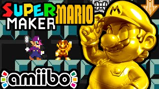 Super Mario Maker PART 3 Gameplay Walkthrough (Gold Mario Amiibo, Waluigi's Creepy Level) Wii U HD