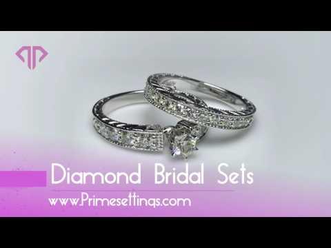 Diamond Bridal Set - www.Primesettings.com