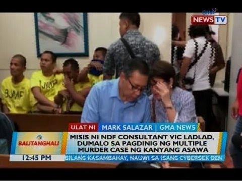 Misis ni NDF consultant Vic Ladlad, dumalo sa pagdinig ng multiple murder case ng kanyang asawa