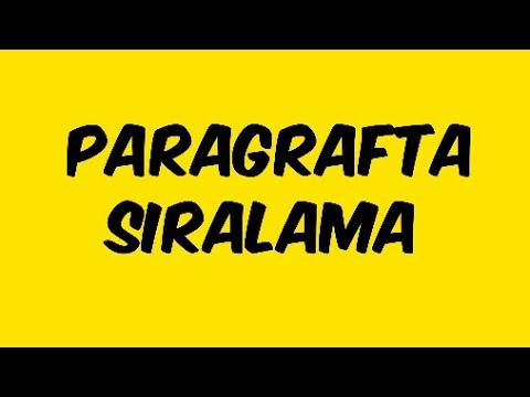 PARAGRAFTA SIRALAMA