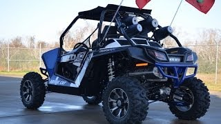 6. 2014 Arctic Cat Wildcat X Viper Blue with Rockford Fosgate Sound System and More!