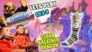 We are playing Chapter 6, 7 8 & 9 in the Cloud Scraper Mountain Level in Skylanders Superchargers! We have to retrieve EON's...