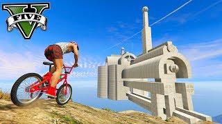 GTA V Online: O CASTELO GIGANTE na MONTANHA com a BMX!!!
