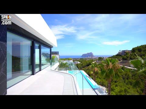 1825000€/Элитный дом в Испании/Вилла Хай Тек в Бениссе/Панорамный вид на море и красоты Коста Бланки