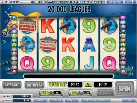 20000 Leagues video slot at Online Vegas