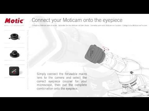 Sådan tilsluttes Moticam til okular
