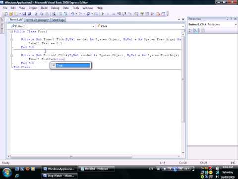 Stop Watch in Visual Basic With Memory Function