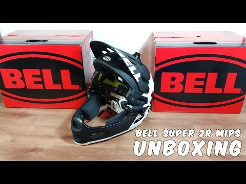 Unboxing Bell Super 2R MIPS Full Face Bicycle Helmet with Removable Chin Bar